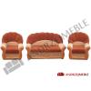 Sofa II z drutem + 2 fotele